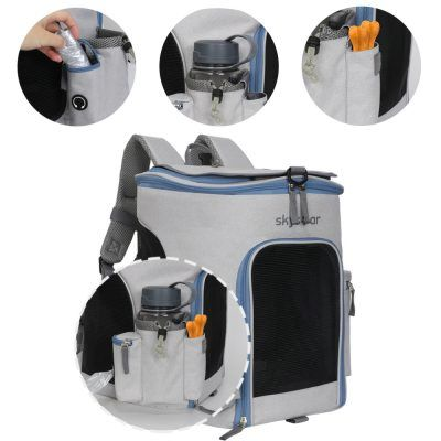 multiple compartments dog carrier